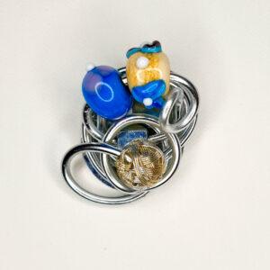 Magnetbrosche Glasperlen