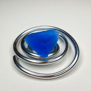 Magnetbrosche blaues Glas